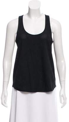 Theory Leather Perforated Top