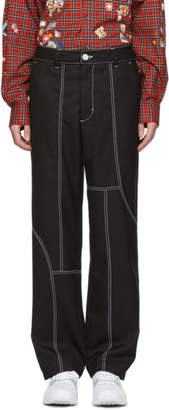 Pyer Moss Black Asymmetric Trousers