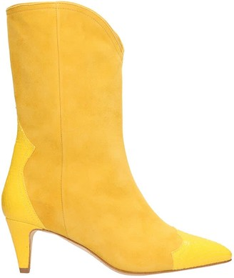 The Seller Yellow Suede Ankle Boots