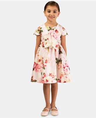 Bonnie Jean Toddler Girls Floral Shantung Dress