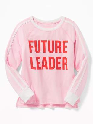 Old Navy Relaxed Graphic Cropped Raglan Tee for Girls