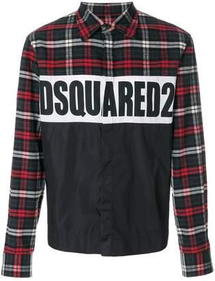 DSQUARED2 logo checked shirt