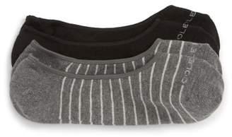 Cole Haan 2-Pack Fine Stripe No-Show Socks