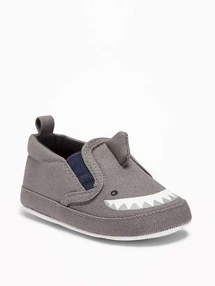 Old Navy Canvas Shark Slip-Ons for Baby