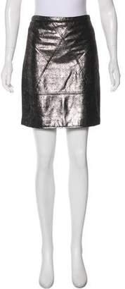 Geren Ford Leather Mini Skirt