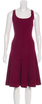 Oscar de la Renta Wool Midi Dress wool Wool Midi Dress