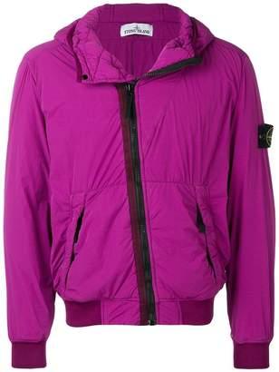 Stone Island zipped hooded jacket