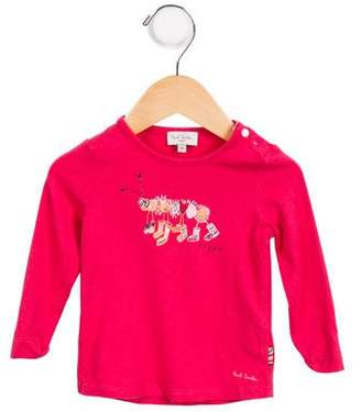 Paul Smith Girls' Printed Long Sleeve Top