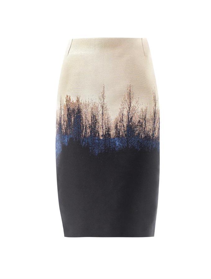 Mary Katrantzou Palma Saga trees jacquard skirt