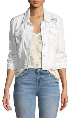 Paige Vivienne Button-Front Denim Jacket