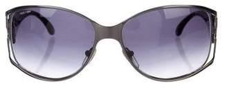 Bvlgari Jewel-Embellished Gradient Sunglasses