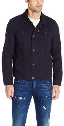 Levi's Men's Cotton Canvas Laydown Trucker Jacket