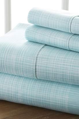 IENJOY HOME Home Spun Premium Ultra Soft Thatch Pattern 3-Piece Twin Bed Sheet Set - Aqua