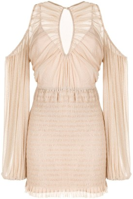 Alice McCall Spell cold-shoulder mini dress