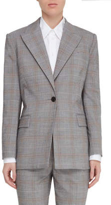 Judith & Charles Vincenza Plaid One-Button Jacket
