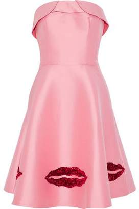 Sachin + Babi Levent Strapless Sequin-Embellished Satin-Faille Dress