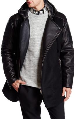Ron Tomson Faux Leather & Faux Fur Coat $425 thestylecure.com