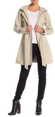 Via Spiga Hooded Waist Belt Coat