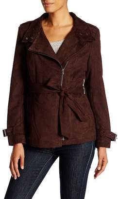 Kenneth Cole New York Asymmetric Faux Suede Jacket