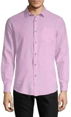 Report Collection Linen-Blend Solid Sport Shirt