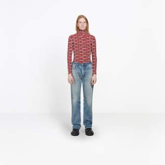 Balenciaga Stonewashed faded effect regular jeans