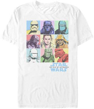Fifth Sun Rise Of Skywalker Pastel Rey Boxes Mens Crew Neck Short Sleeve Star Wars Graphic T-Shirt-Slim