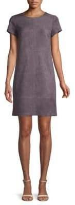 Faux Suede T-Shirt Dress