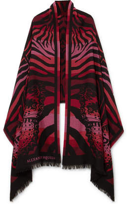Alexander McQueen Wool-jacquard Scarf - Red