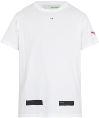 OFF-WHITE Logo-print cotton T-shirt $269 thestylecure.com