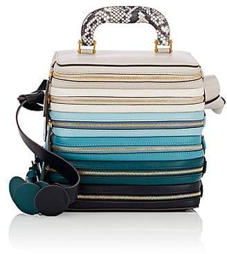 Anya Hindmarch WOMEN'S THE STACK LEATHER SHOULDER BAG - DARK TEAL
