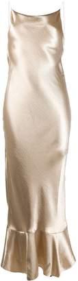 Saloni lamé effect gown