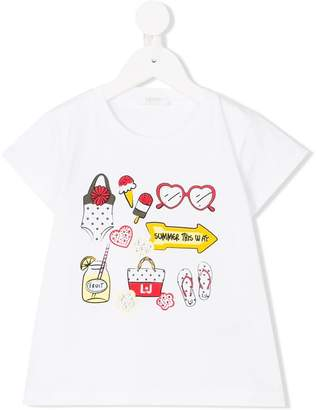 Liu Jo Kids illustrated-print T-shirt