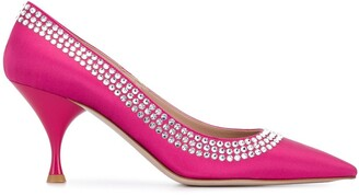 Miu Miu embellished heeled pumps