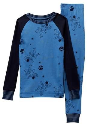 Petit Lem Space Boys Glow-in-the-Dark Pajama Set (Toddler & Little Boys)