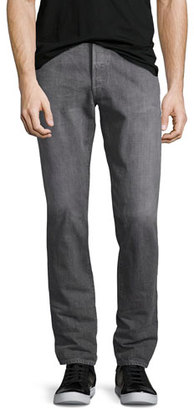 Simon Miller M001 Kane Relaxed-Slim Jeans, Medium Gray $345 thestylecure.com