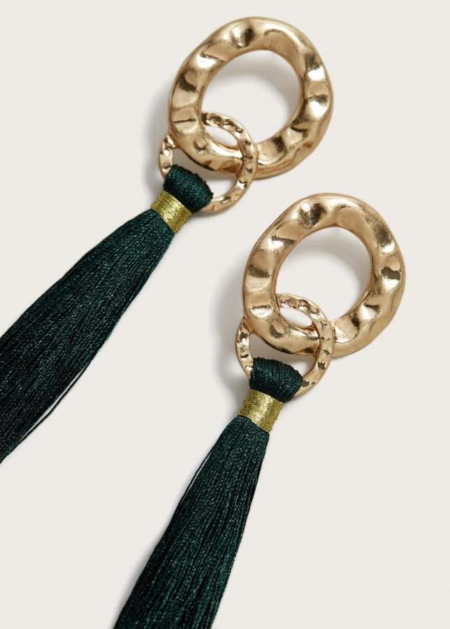 Metall-Ohrhänger mit Fransen