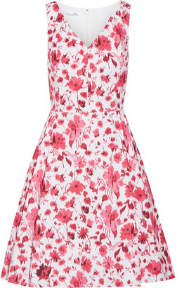 Oscar de la Renta - Floral-print Stretch-cotton Dress - Pink $1,490 thestylecure.com