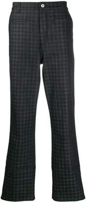 Loewe check pattern fishermen jeans
