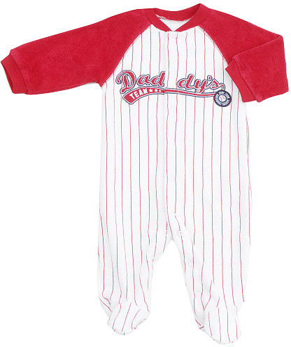 Carters Carter's Striped Daddy's Team Footsie- Red (6 Months)