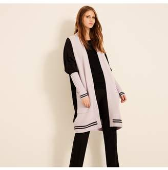 Amanda Wakeley Opal Charcoal Ribbed Cashmere Cardigan