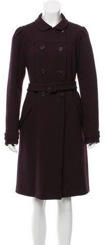 Miu MiuMiu Miu Wool Belted Coat