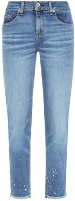 Rag & Bone Ankle Dre Paint Splash Jeans