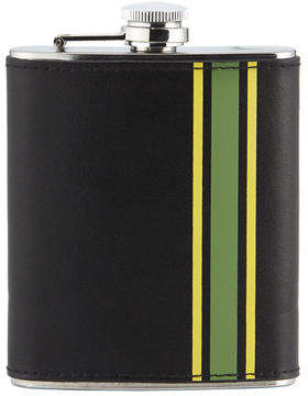 Neiman Marcus Striped Stainless Steel Flask
