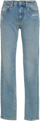Off-White Stretch Mid-Rise Skinny-Leg Jeans