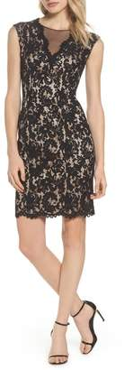 Vince Camuto Illusion Lace Sheath Dress