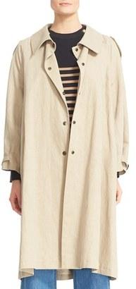 Women's Belstaff Cotton & Linen Coat $1,295 thestylecure.com