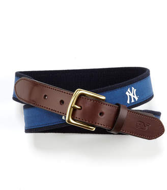 Vineyard Vines New York Yankees Canvas Club Belt
