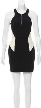 Mason Leather-Accented Mini Dress