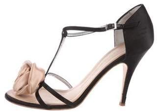 Giuseppe Zanotti Floral T-Strap Sandals