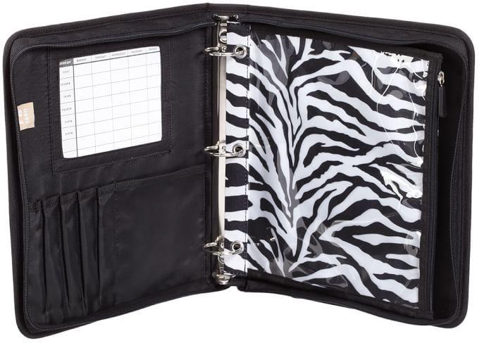 STUDY Gear-Up Black Zebra Homework Holder